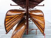 Wooden rowboat — Stock Photo