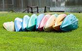 Colorful canoe — Stock Photo