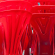 Red plastic chair — Stock Photo #64463163