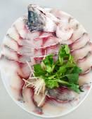 Tilapia fish slice — Stock Photo