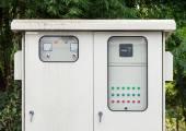 Power control  cabinet — Stockfoto