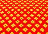 Tapete vermelho com padrão de flores — Fotografia Stock