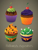 Halloween cupcake set Scary sweets to celebrate  — Διανυσματικό Αρχείο