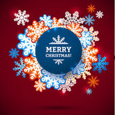 Snowflake winter blue background, christmas paper pattern. — Vettoriale Stock