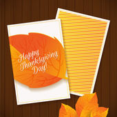 Happy Thanksgiving greeting card — Stock Vector