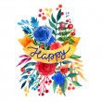 Watercolor flower card. Beautiful Floral Greeting Card Bright illustration invitation card. Ribbon decorative illustration — Stock Vector #78131648