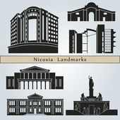Nicosia landmarks and monuments — Stock Vector