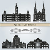 Quebec landmarks and monuments — Stock Vector