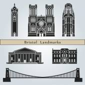 Bristol landmarks and monuments — Stock Vector