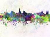 Oxford skyline in watercolor background — Stock Photo