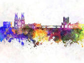 York skyline in watercolor background — Stock Photo