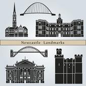 Newcastle Landmarks — Stock Vector