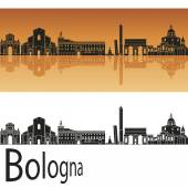Bologna skyline in orange background — Stock Vector