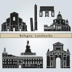 Постер, плакат: Bologna landmarks and monuments