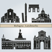 Bologna landmarks and monuments — Stock Vector