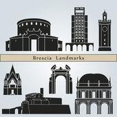 Brescia landmarks and monuments — Vecteur