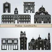Padua landmarks and monuments — Vecteur