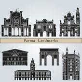 Parma landmarks and monuments — Vecteur