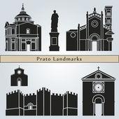 Prato landmarks and monuments — Vecteur