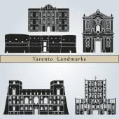 Tarento landmarks and monuments — Vecteur