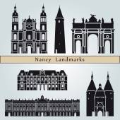 Nancy landmarks and monuments — Stock Vector