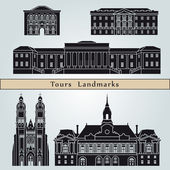Tours landmarks and monuments — Stock Vector