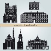 Amiens landmarks and monuments — Stock Vector