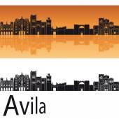 Avila skyline in orange background  — Stock Vector