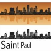 Saint Paul skyline — Stock Vector