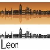 Leon skyline — Stock Vector