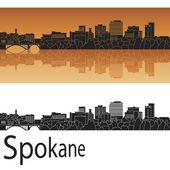 Spokane  skyline in orange — Stock Vector