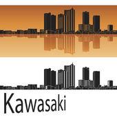 Kawasaki skyline — Stock Vector