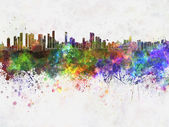 Belem skyline in watercolor background — Стоковое фото