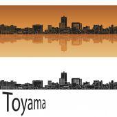 Toyama skyline — Stock Vector