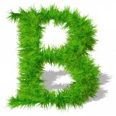 Grass eco font — Stock Photo