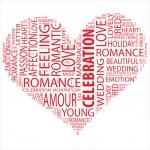 Wordcloud  in shape of heart — Stock Photo #67736693