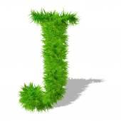 Grass eco font — Stock Photo