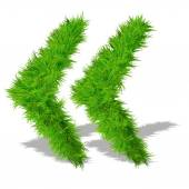Green grass eco font symbols — Stock Photo