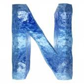 Conceptual 3D blue ice — Stock Photo