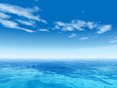 Onde di acqua di mare concettuale — Foto Stock
