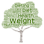 Diet green text word cloud — Stock Photo