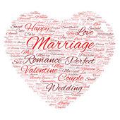 Valentine's Day wordcloud — Stock Photo