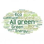 Chmura ekologia zielony słowa — Zdjęcie stockowe