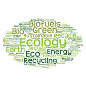 Abstract green ecology word cloud — Stock Photo