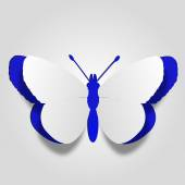 Butterfly shape made of paper — Stockfoto