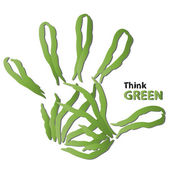 Ecology hand print symbol — Stock Photo