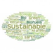 Green ecology  word cloud — Stock Photo