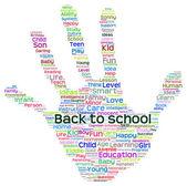 Education abstract hand — Stock Photo
