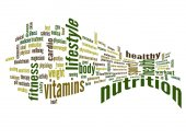 Nutrition and health word cloud — Stock Photo