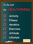 Health  chalk text blackboard — Stock Photo